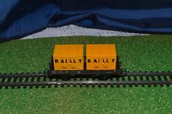 Jouef 645 B Wagon Dish Type Ocem 2 Containers Bailly 2 Axles In Box Good Mint