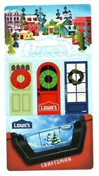 Lot 3 Different Lowes Christmas Winter Holiday Gift Cards No Value Collectible
