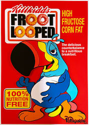 Ron English Froot Looped 2020 3d Hand Signed 20/25 34 X 24 In Popaganda