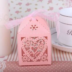 Wedding Favor Candy Boxes Paper Laser Gift Guests Love Heart Party Decoration
