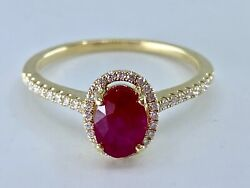 14kt Yellow Gold Ruby And Diamond Ring Size 6.5