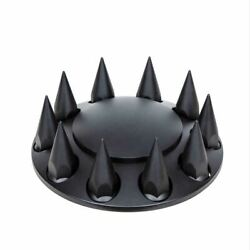 Up Front Axle Cover Matte Black Dome Hub Cap 33 Mm Spike Screw-on 10341 Each