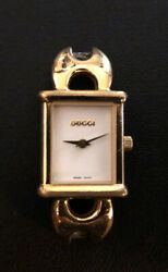 Vintage Gucci Gold Plated 1800 L Watch Face Swiss Made $125.00