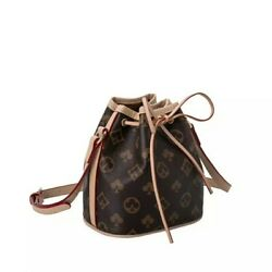 Small leather bucket bag $100.00