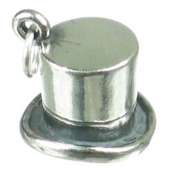 Top Hat Sterling Silver Charm .925 X 1 Smart Dress Gents Hats Charms_