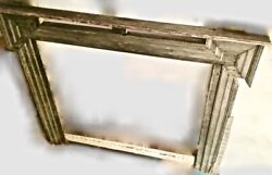 2 Antique Wood Fireplace Mantles Original Paint Rustic Farm Salvaged Reclaimed