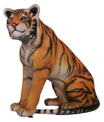 Tiger Statue Life Size Sitting - Tiger Life Size Sculpture - Tiger Statue