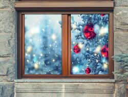 3d Red Ball O266 Christmas Window Film Print Sticker Cling Stained Glass Xmas Fa