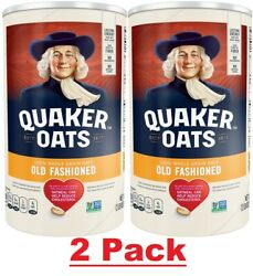 Quaker Oats, Old Fashioned Oatmeal, 42 Oz Canister 2 Pack Total 84 Oz - New