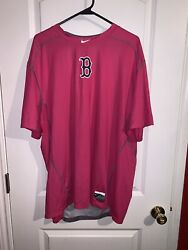 Rare Boston Red Sox Player Issued Motherandrsquos Day Nike Undershirt Dri Fit Size 3xl