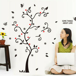 Family Tree Wall Sticker Photo Picture Frame Removable DIY Room Decal Black US