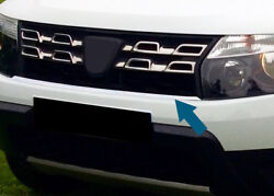 Chrome Front Grille Accent Trim Cover Strip To Fit Dacia Duster 2013