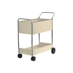 Fellowes Steel Mail Cart 150-folder Capacity 20wx40-1/2dx39h Dove Gray 40922