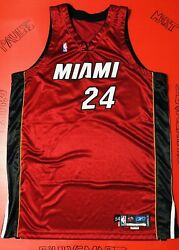 Authentic Miami Heat Jerome Beasley Game Used Worn Jersey Sewn Procut Vtg Wade