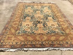 Vintage Modern Nepalese Oriental Rug Handknotted In Nepal Wool 8andrsquox 11andrsquo