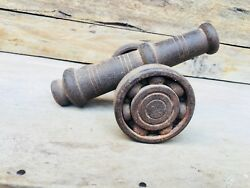 Ancient Rare Steel Hand Forged Royal Beautiful Cannon
