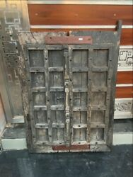 17th C Antique Wooden Hand Crafted Iron Work House Castle 44 X 31and039and039 Window Door