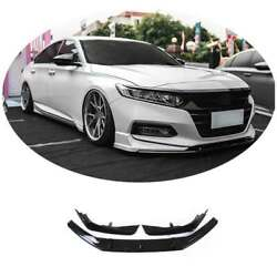 For 2018-2021 Honda Accord Unfinished Ak-style Front Bumper Lip Spoiler Refit 3x