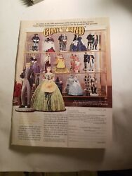 1998 Print Ad-franklin Mint-50th Anniversary Gone With The Wind Figurines-