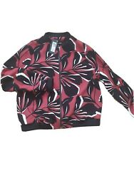 Marks And Spencer Woman Size 14 New Zip Jacket Casual Work Wear Floral Lightweig