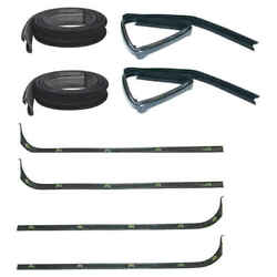 Inner And Outer Sweep Belt And Glass Run Window Channel Kit 67-70 Ford F Pickup