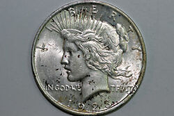 1923-p 90 Silver Peace Dollar Nice Toning Grade About Uncirculated Pdx1426