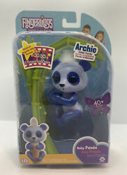 Wowwee Fingerlings Baby Panda Archie Blue Glitter Interactive Toy 40+ Sounds