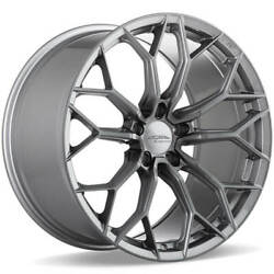 4 20 Staggered Ace Alloy Wheels Aff09 Brushed Face With Space Grey Tintb41
