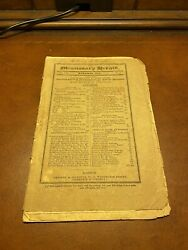 Missionary Herald For 1829 Xxv No.11 Choctaw Cherokee Indians Prisons Ceylon