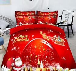 3d Red Ball Stars O504 Christmas Quilt Duvet Cover Xmas Bed Pillowcases Fay