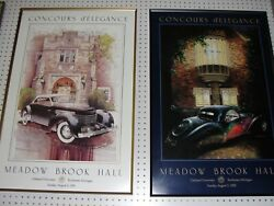 Concours D'elegance Event Posters Blow-out - Meadow Brook, Cranbrook, Brembo