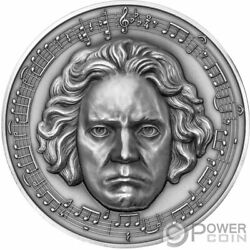 Beethoven 250th Anniversary 3 Oz Silver Coin 3000 Francs Cameroon 2020