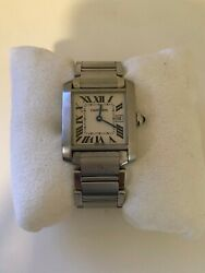 W51008q3 Tank Franandccedilaise Stainless Steel Quartz Womanand039s Watch - Silver