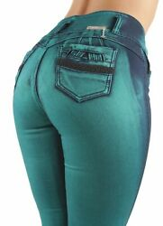 Womenand039s Juniors / Plus Colombian Design Mid Waist Butt Lift Push Up Skinny Jeans
