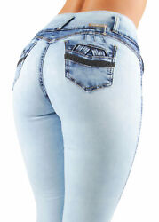 Womenand039s Juniors Butt Lift Push Up Mid Waist Ripped Distressed Skinny Jeans