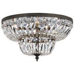 Crystorama Lighting 718-eb-cl-s Richmond - Four Light Flush Mount In Natural