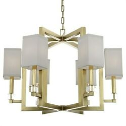 Crystorama Lighting 8886-ag Dixon - Six Light Chandelier In Classic Elegant And