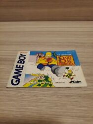 Simpsons Bart And The Beanstalk Nintendo Game Boy, 1993 Manual Only