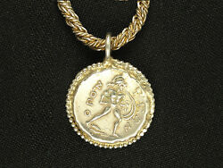 Antique Greek ΟΠΟΥΝΤΙΩΝ Opuntii Demeter And Ajax Coin Pendant Necklace
