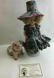 Lawton To Market, To Market Doll W/ Pig And Coa