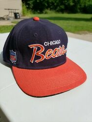 Vtg Chicago Bears Clark Griswold Sports Specialties Fitted Hat Cap Usa 7 3/8 Nfl