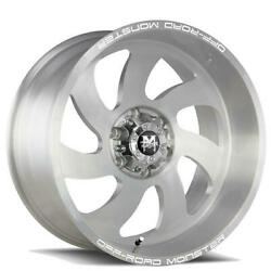 4 24 Off Road Monster Wheels M07 Silver Brushed Face Rims B43