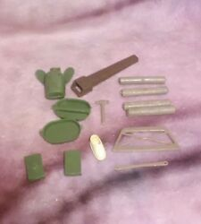 Vintage Marx Parts Accessories Lot - Green And Brown - Best Of The West / Army