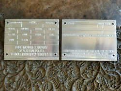 Australian Built Ford Data Plate Custom Made 4 Your Restoration Project