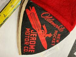Vintage 1950and039s Oldsmobile New Rocket Cap Hat Advertising Oil Gas Petroliana Can