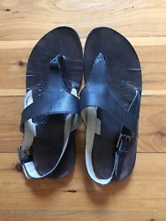 Rare Isabel Marant Sample Handmade Black Leather Thong Sandals Rrp440 Sold Out