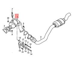 Genuine Audi A5 S5 Coupe Sportback Catalytic Converter Right 8k0254252bx