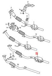 Genuine Vw Skoda Seat Polo Classic Derby Vento-ind Exhaust Pipe 6q0254502sx