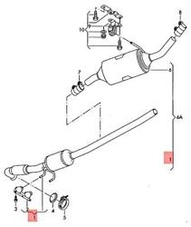 Genuine Vw Campmobile Typ2 Transp. Lt Exhaust Pipe 7h0254501px