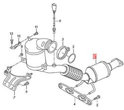 Genuine Vw Seat Polo Derby Vento-ind Exhaust Pipe 2q0254503ex